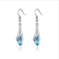 Wholesale Newest Lady s Crystal Chandelier Earrings With Shinning Rhinestone Jewelry xj E2