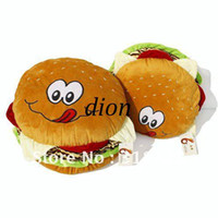 Wholesale Simulation hamburger plush toy Sofa bed seat cushion toy Pillow nice gift small size