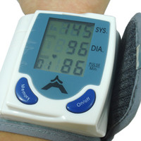 Wholesale NEW Household Automatic Digital Wrist Blood Pressure Monitor amp Heart Beat Meter With LCD Display