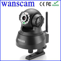 Wholesale Network IP Camera Wireless WiFi Dual Audio IR Night Vision PanTilt Speed Monitor Wanscam CCTV Webcam