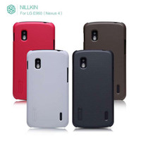 Wholesale nillkin matte case with screen protector for LG E960 Nexus ultra thin design Hardness