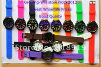 Wholesale 50 clours Fashion NEW Style quartz movement WOMAGE Silicone watch Men s Candy Wrist Watch