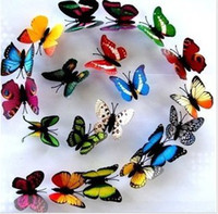 Wholesale Are cm simulation malls celebration specimens wedding teaching supplies butterfly decoration fridge