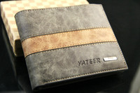 Wholesale Vintage Style Mens High Quality Short Leather Wallet Pockets Card Clutch Cente Bifold Purse QB019