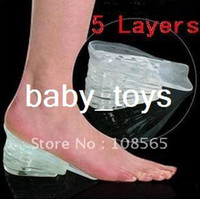 Wholesale 1pair Layers Taller Insole Silicone Gel Inserts Lift Shoe Pads Height Increase