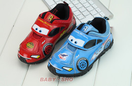 Wholesale Children shoes CARS Boy Sneakers Red blue Lightning McQueen student athletic shoes hot CauseSport