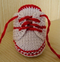 Handknit baby first walker shoes infant sport booties lace u...