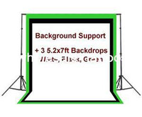 background black - White Black Green Backdrops Background Suppport Stand