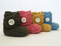 Baby crochet shoes snow booties curve one big cotton 0- 12M s...