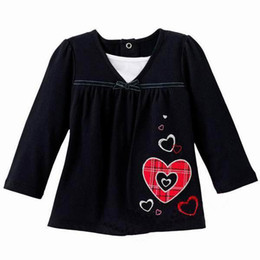 Wholesale Jumping Beans Black Girl T shirts Kids Clothes Baby Long Sleeve T shirts