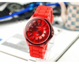 Women Multi Color Sunflower Silicone Watch,Orange Band Students Watch, #SF001-4