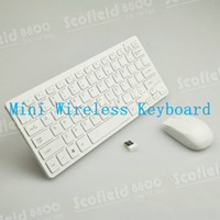 Wholesale Thin GHz Mini Wireless Keyboard with G Wireless Mouse Set for Computer Laptop White