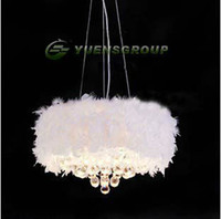 Wholesale NEW White Purple Pink Black Feather Chandelier with Lights YSL ML0045