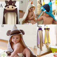 Wholesale Doomagic Baby And Kids Lovely Animal Bath Towel Bathrobe Hald Blanketwashcloth for boys amp girls