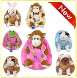 Wholesale Baby backpacks with Plush toys kids wistiti backpack Children animal backpack school bag LZ B0018