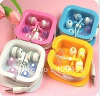 Wholesale cheap price mini In ear earphones headphones headsets for Mp3 MP4 MP5 PSP PC Color Pink B