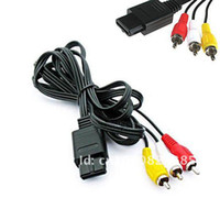 Wholesale for Game accessories AV Cable For Gamecube SNES Nintendo N64 VIDEO Cord Fast Shipping