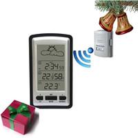 Wholesale Wireless Rain Meter Rain Gauge Weather Forecast Indoor Outdoor Thermometer