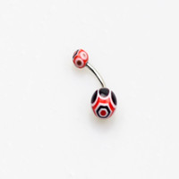 bell times - best less time multicolor Acrylic UV ball Navel Ring belly bar navel body piercing jewelry