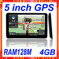 Wholesale 5 inch gps navigation MTK DDR128M WIN CE6 FM Transmitter GB with latest map gps navigation