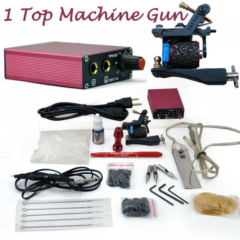 Hot sale smart tattoo machine gun kit set power supply for Tattoo gun kits for sale