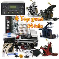Cheap 4 Guns tattoo kits Best Professional Kit A4001 tattoo ink kit