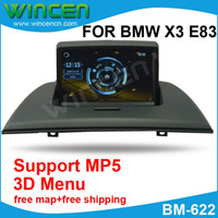 "BMW English DVD Player,Bluetooth,Built-in GPS,FM Tra GPS 7"" Car DVD Player for BMW X3 E83 with MP5 Function 3D Menu PIP Free Shipping+Free Card with Map+"