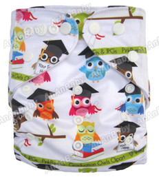 Wholesale Jctrade Cartoon Diapers Printed Cloth Nappies Without Inserts Washable Reusable AnAnBaby Diaper