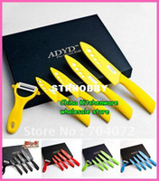 Wholesale peeler Ceramic Knife gift sets with color box fruit knife red