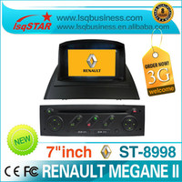 Wholesale 2 Din inch Renault Megane II car dvd player with dvd cd mp3 mp4 bluetooth ipod radio tv gps wince