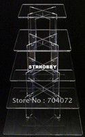 Wholesale set Tier quot thick Square Acrylic Cupcake cake Tower Stand Wedding Party Birthday
