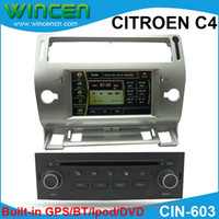 Wholesale 7 quot Car DVD Player for CITROEN C4 with GPS IPOD CANBUS SWC BT RADIO DVD TV amp Map amp Gift
