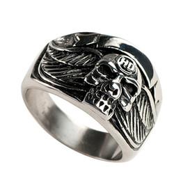 Free Shipping! 3pcs stainless steel skull mens ring biker jewelry MER01-05