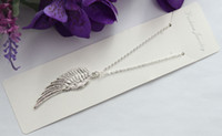 Wholesale 10pcs Sterling Silver Plated Angel Wing Pendant Chain Necklaces