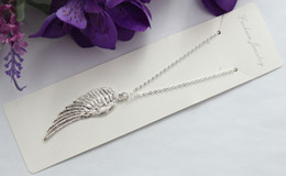 10pcs Sterling Silver Plated Angel Wing Pendant Chain Necklaces #22472