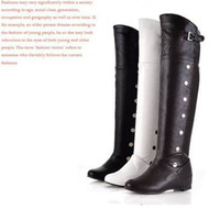 Wholesale high inner wedge heel platform shoes over knee woman boot for winter fashion boot