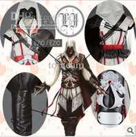assasins creed clothing - Ezio Auditore Assasins Creed cosplay clothes Ezio a whole set sizes can choose EMS Freeshipping