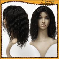 Indian Virgin Hair Weft Hair Weave Deep Wave #1B 100g pcs