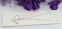 10pcs Sterling Silver Plated Fleur De Lis Pendant Chain Neck...