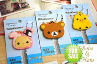 Wholesale NEW cute rilakkuma series Key holder key cover strap charm