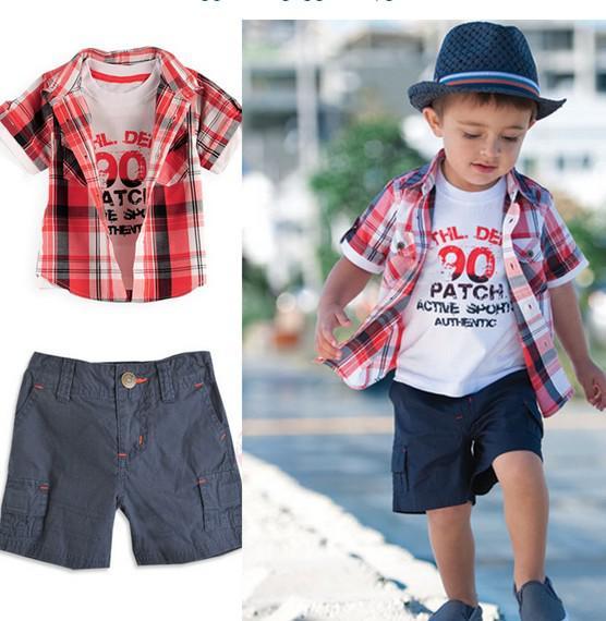 2017 2 6year Kids Clothing Set Baby Clothes Set Summer Shirts   ...