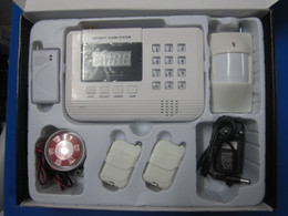 Wholesale Door Store PSTN AND GSM Wireless Burglar Alarm Security System Double nets Voice available S914