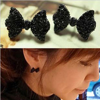Wholesale Fashion Bow Earing Fashion Earrings Girl cm Black Earing pair