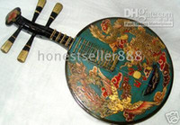 Wholesale Tibet Rare Rosewood Musical Instruments Dragon Phoenix Sculpture