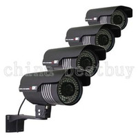 Outdoor/Weatherproof Color Day, B&W Night Outdoor 4pcs 84IR Sony CCD 600TVL High Resolution CCTV Cameras