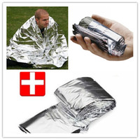 Wholesale 5 silvery silver Mylar Waterproof Emergency Rescue Space Foil Thermal Blanket
