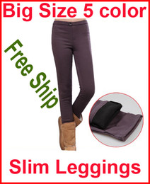 Wholesale Warm Pants Thick Winter Pant Big Size Womens Solid Pants Leggings MOQ PC Free Shipment