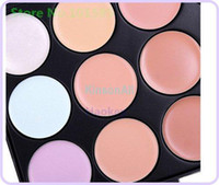 Face Guangdong China (Mainland) 15 Professional make up set 15 Color Concealer Camouflage Makeup Palette Set Free shipping, 1pc lot, be