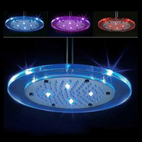 Wholesale Round Color Changing Automatic Control LED Shower Head Bathroom Sprinkler H4748 AB2922