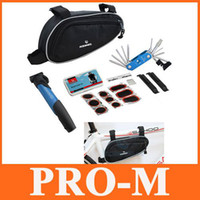 Wholesale 16 in Cycling Bicycle Tools Bike Repair Kit Set with Pouch Pump H8048 Free Drop Shipping